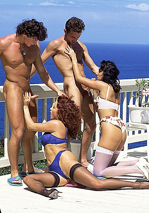 Erika Bella and Kathy Kash, Orgy at the Swimming Pool