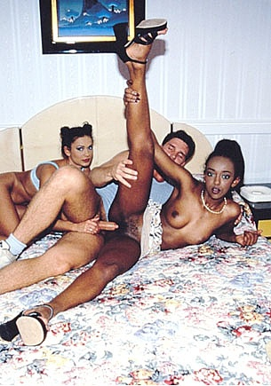 Bagheera, Teen, Black and Sexy Shares a Cock With Eva Roberts