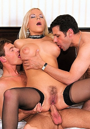 Busty Lydia Gets a DP Threesome in Paris