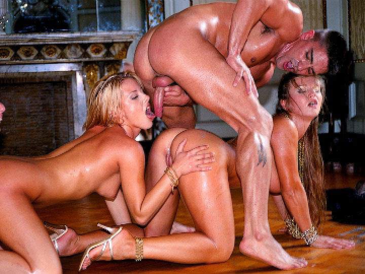 Four Fabulous Girls All Have Sex with Two Lucky but Evil Men